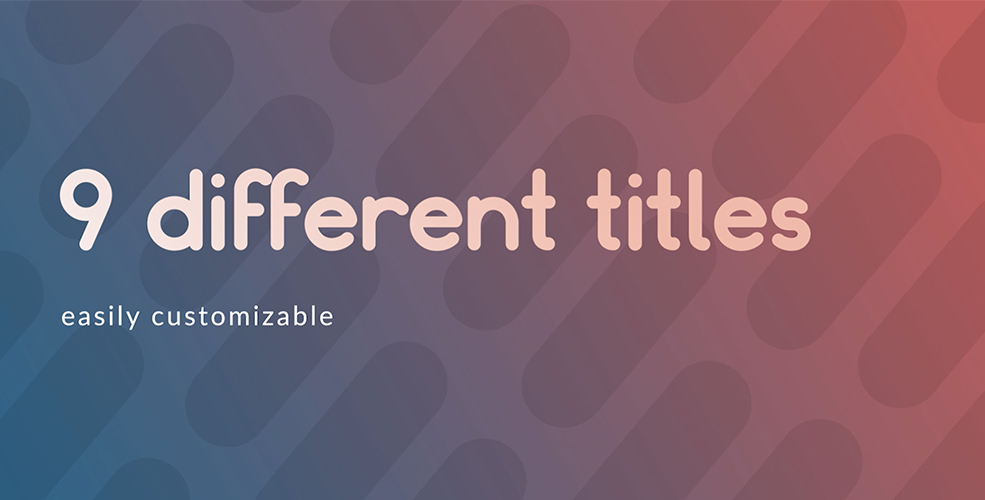 Titulos Redondeados - 9 titulos diferentes