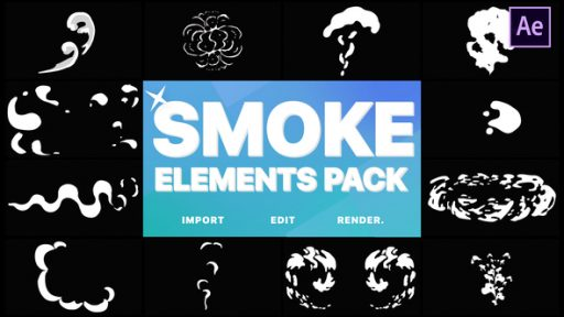 2D FX Smoke Elements | After Effects
