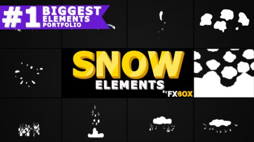 Cartoon Snow Elements | After Effects