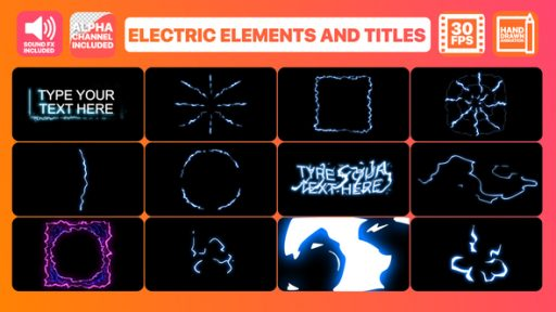 Electric Elements And Titles   After Effects