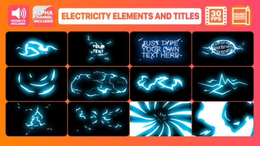 Electricity Elements And Titles | After Effects