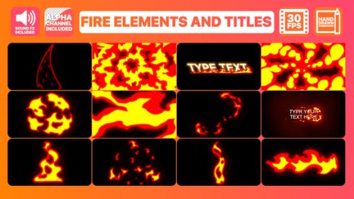 Fire Elements And Titles | After Effects