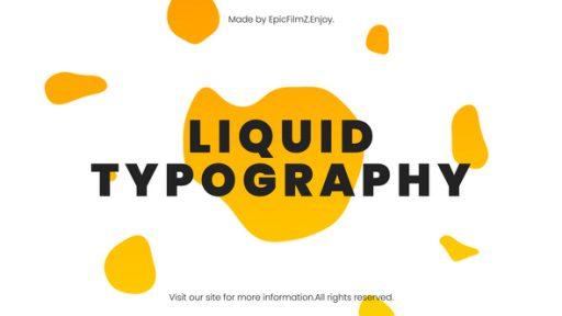 Fresh Liquid Typography