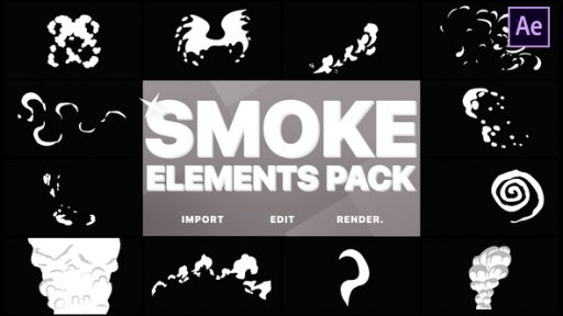 Funny Smoke Elements | After Effects