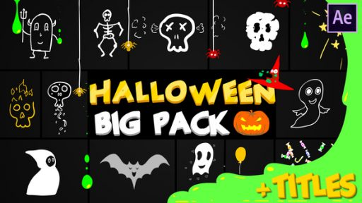 Halloween Party Elements And Titles | After Effects