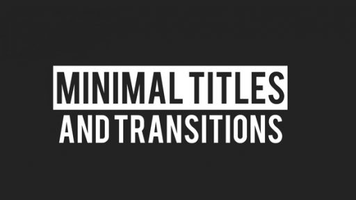 Minimal Titles And Transitions