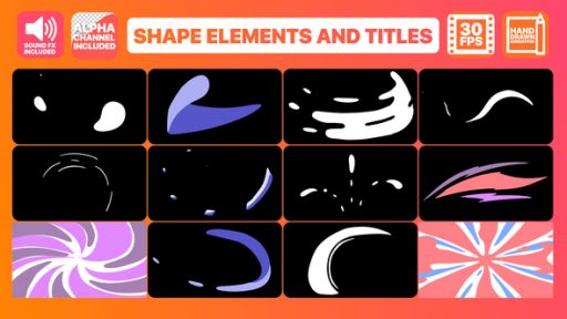 Shape Elements And Titles | After Effects Template