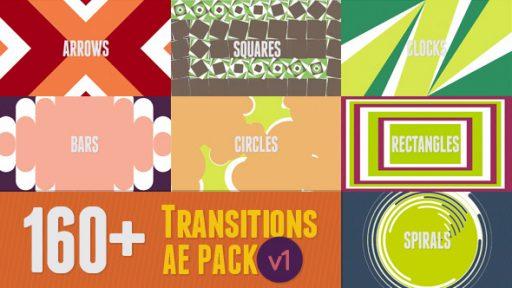 160+ AE Transitions Pack v1