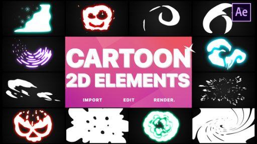 2D Cartoon Elements | After Effects