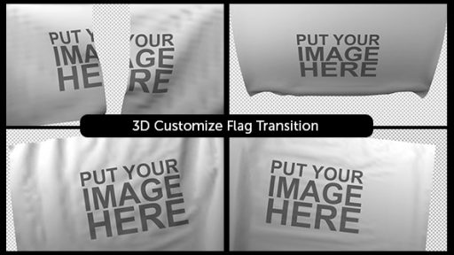 3D Customizable Flag Transition