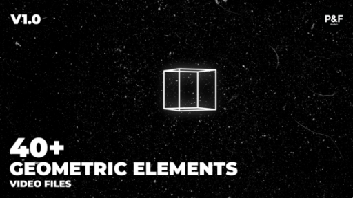 40+ Geometric Elements Pack (Project + Video Files)