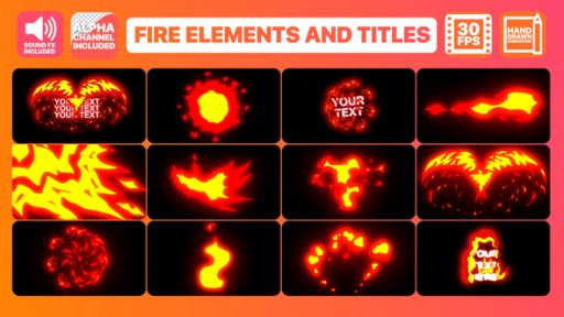 Flame Elements And Titles | After Effects Template