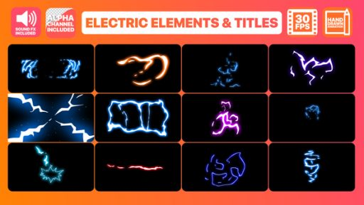 Flash FX Electric Elements Transitions And Titles | After Effects