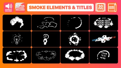 Flash FX Smoke Elements And Titles | After Effects