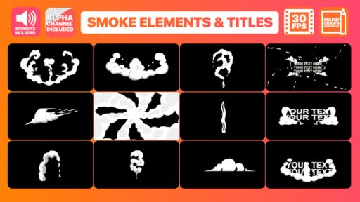 Hand Drawn Smoke Elements Transitions And Titles | After Effects