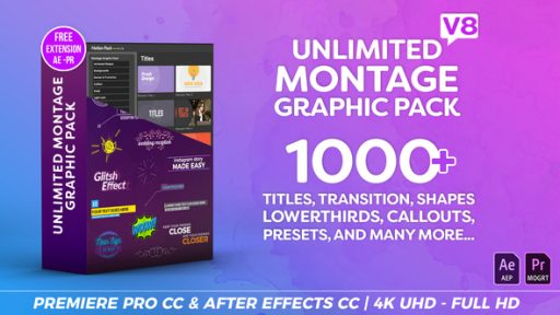 Montage Graphic Pack / Titles / Transitions / Lower Thirds and more