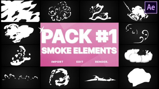 Smoke Elements Pack 01 | After Effects