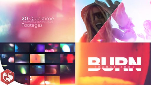 Burn Transitions Pack