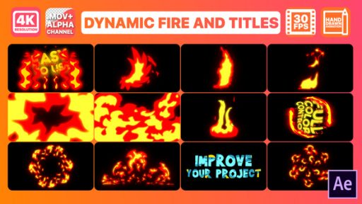 Dynamic Fire And Titles | After Effects