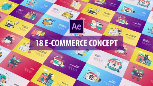 E-Commerce Concept - Flat Animation