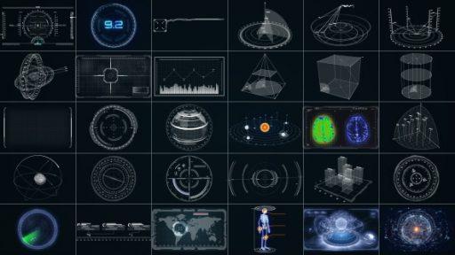 30 Super Hi-Tech HUD & Infographics Elements