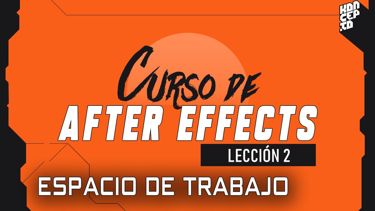 curso de after effects - espacio de trabajo