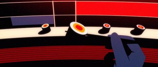 motion graphics de secuencia de sushi