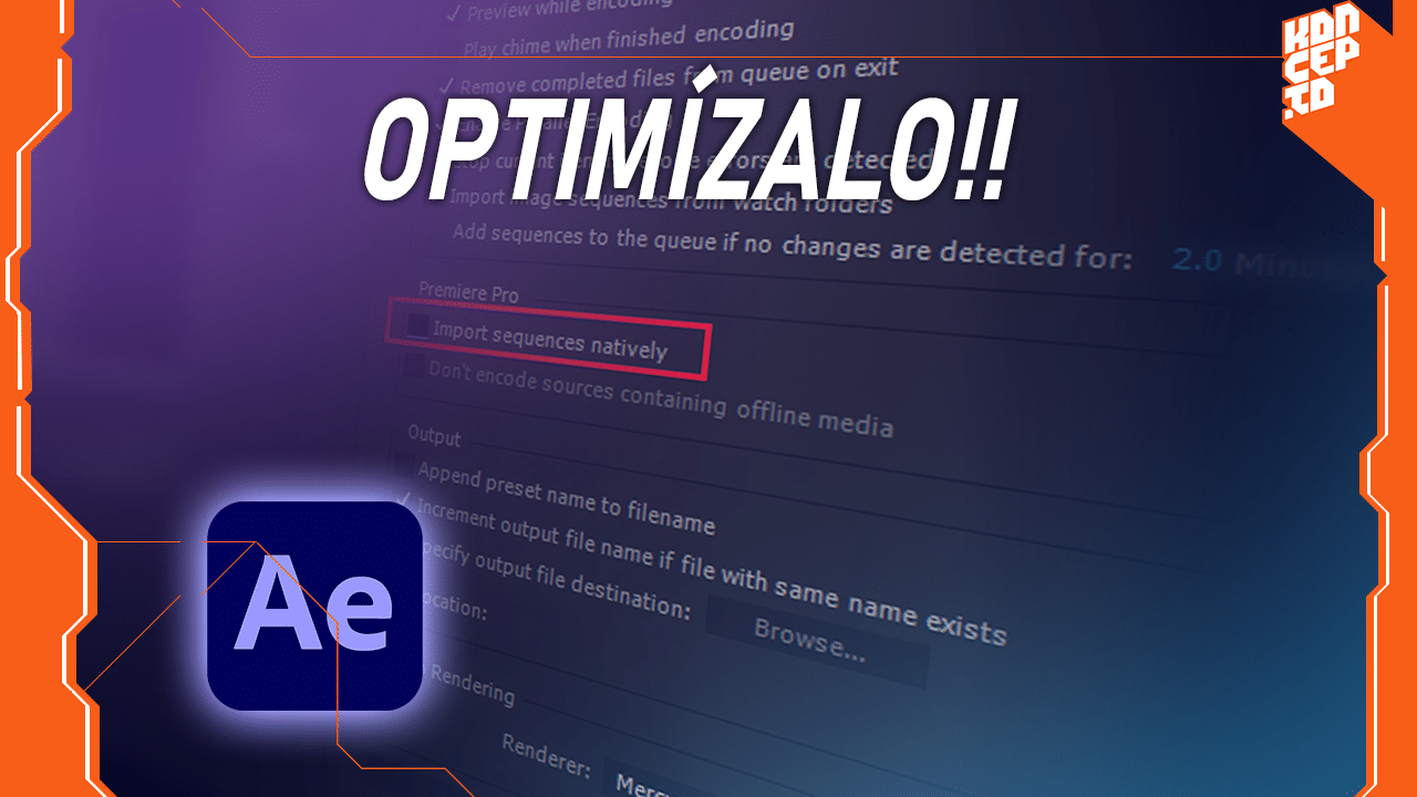Optimizar after effects