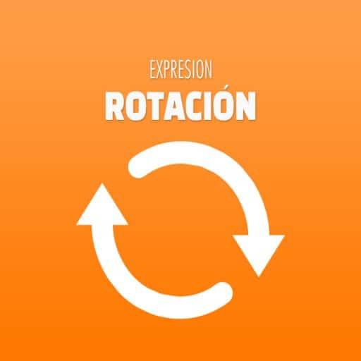 expresion de rotacion